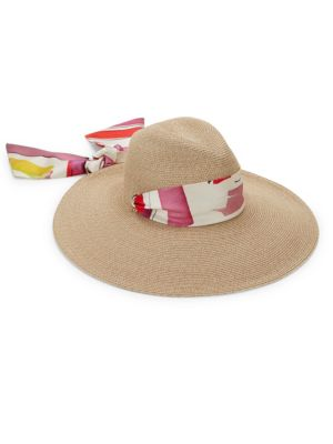 Cassidy Packable Wide-Brim Fedora & Scarf