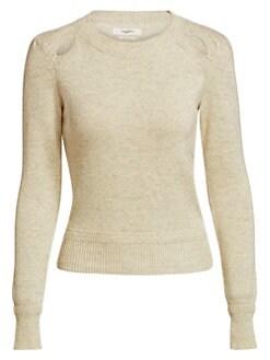 이자벨 마랑 Isabel Marant Etoile Klee Cutout Knit Sweater,Light Grey