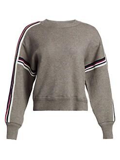 이자벨 마랑 Isabel Marant Etoile Kaori Colorblock Stripe Knit Sweater,Grey