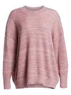 이자벨 마랑 Isabel Marant Etoile Crewneck Ribbed Sweater,Dusty Pink