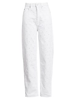 이자벨 마랑 에뚜왈 청바지 - 화이트 Isabel Marant Etoile Lorny Perforated Jeans,White