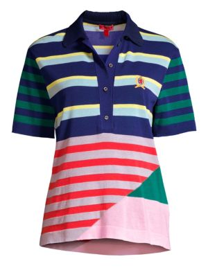 Striped Knitted Polo
