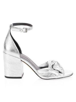 Women'S Capriana Block-Heel Sandals in Silver from REBECCA MINKOFF