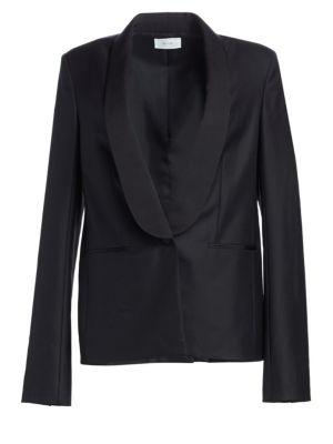 Odice Escorial Wool Shawl Collar Jacket
