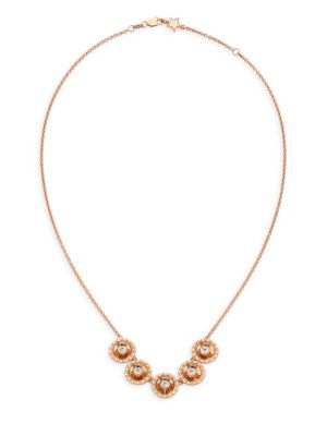 Aura 18K Rose Gold & Diamond Necklace