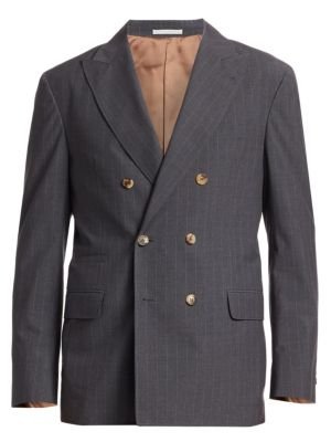 Double Breasted Pinstripe Sportcoat