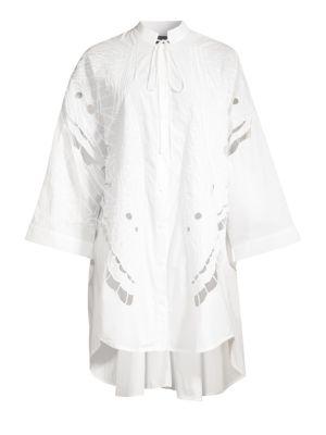 Broderie Butterfly Shirtdress