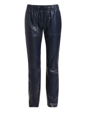 LORO PIANA | Jerin Leather Joggers | Goxip