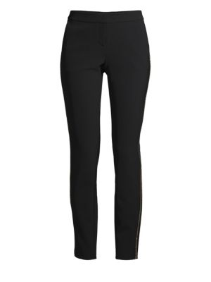 Manhattan Slim Pants With Beaded Side Seam Detail