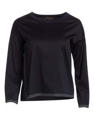 LORO PIANA | Cube Cotton Side Insert Top | Goxip