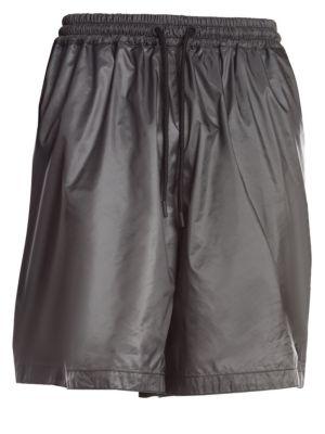 Metallic Multi-Logo Shorts