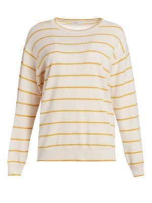 Virgin Wool & Cashmere Stripe Sweater
