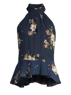 Abbigayl Floral Halterneck Top