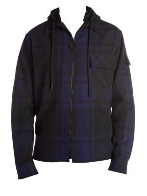 Checked Zip-Front Jacket