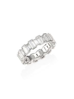 Geometric Cubic Zirconia Band Ring