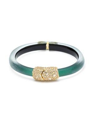 Swarovski Crystal Encrusted Clasp Skinny Hinge Bracelet