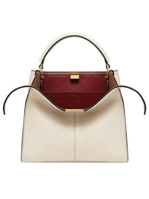 Mini X-Lite Peekaboo Leather Handbag