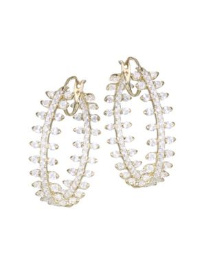 ADRIANA ORSINI Cubic Zirconia Pavé Hoop Earrings in Gold