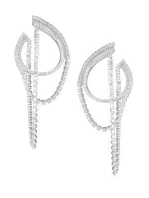 ADRIANA ORSINI Eclectic Cubic Zirconia Front-To-Back Earrings in Rhodium