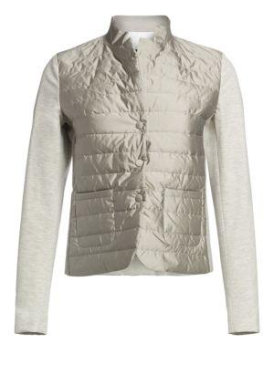 Jersey Sleeve Puffer Jacket