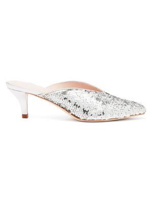 Juno Sequin Kitten Heel Slides