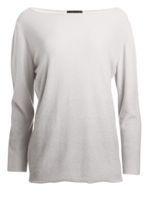 Cashmere Ombré Boatneck Sweater
