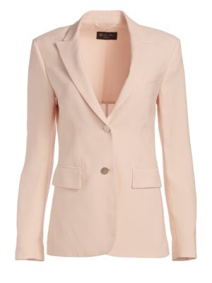 LORO PIANA | Virgin Wool & Silk Jacket | Goxip