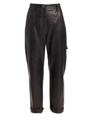 Leather Carpenter Pants