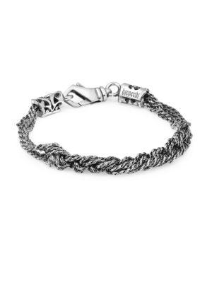Crochet Sterling Sivler Bracelet