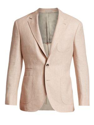 Solid Hopsack Wool Blazer