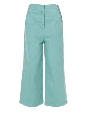 Garment Dyed Demi-Crop Jeans