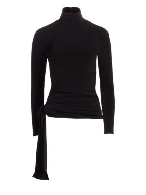 Shea Turtleneck Wrap Sweater
