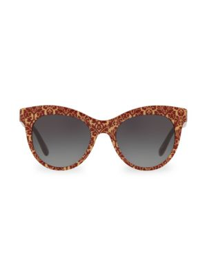 DG4311 Glitter Floral 51MM Cat Eye Sunglasses