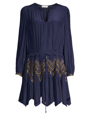 Hanna Embellished Handkerchief Hem Dress