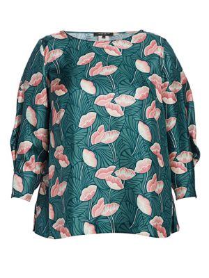Caddie Printed Silk Blouse
