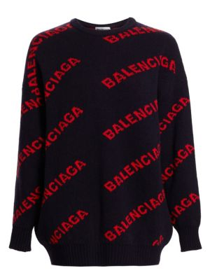 Intarsia Knit Logo Sweater
