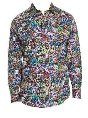 Rallis Floral Cotton Button-Down Shirt
