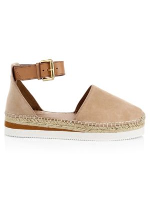 Glyn Leather Flat Espadrilles