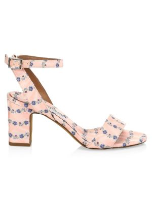 Tabitha Simmons Sandals Leticia Floral Ankle-Strap Sandals