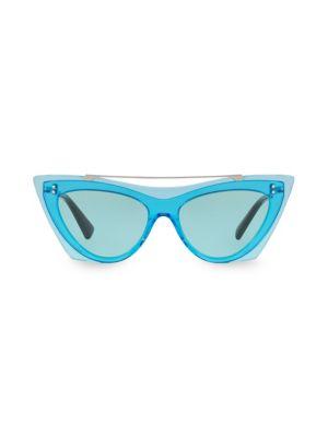 VA4041 Solid Blue 53MM Cat Eye Sunglasses