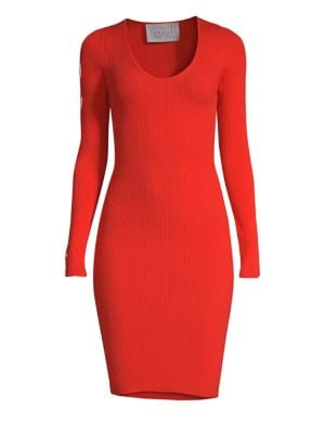 VICTOR GLEMAUD | Cutout Sleeve Knit Dress | Goxip