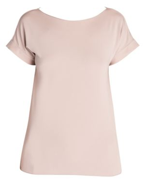 Viscose Jersey Boatneck Tee