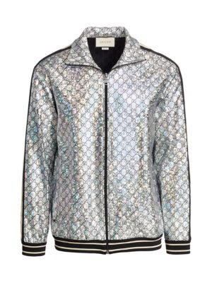 Laminated Sparkling GG Jersey Jacket