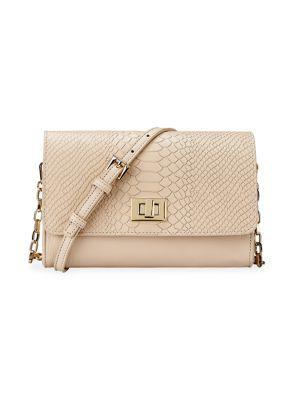 Catherine Python-Embossed Leather Crossbody Bag
