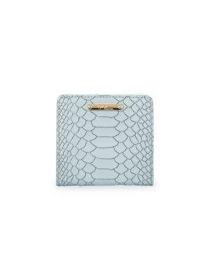Mini Embossed Python Folding Wallet