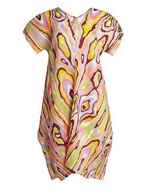 Wooden Pattern Shift Dress