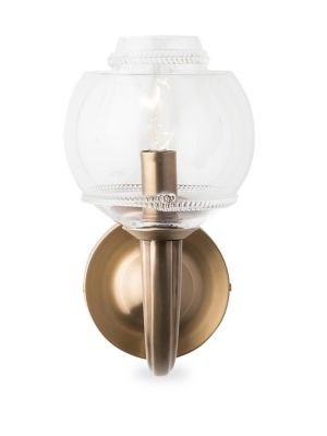Dean Burnished Brass Petite Double Shade Sconce
