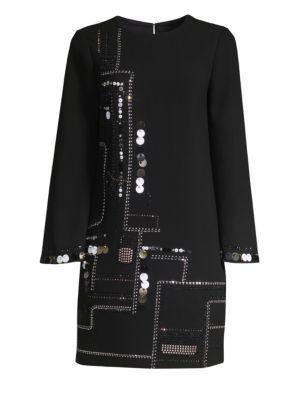 Winter Luxe Affair Embellished Shift Dress