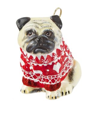 Diva Dogs Pug Fawn Ornament