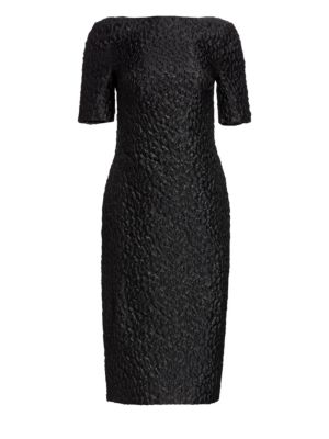 Leo Boatneck Midi Sheath Dress